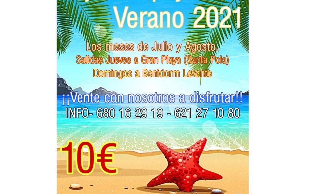 Viajes a la playa 2021
